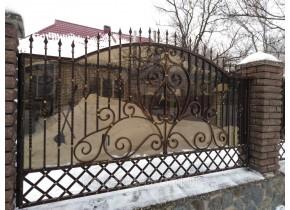 Забор кованый Ира Іра без пластику