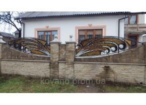 Забор кованый Павлін Павлин